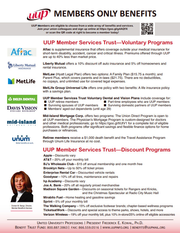 Member Only Benefits flyer<br> <A HREF=http://uupinfo.org/advocacy/pdf/MembersOnlyFlier030409.pdf>PDF</A>