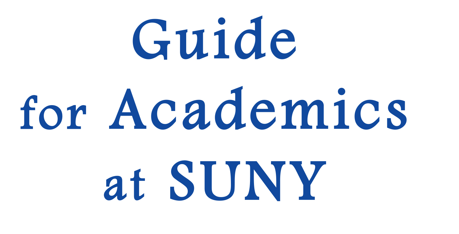 Guide for Academics at SUNY